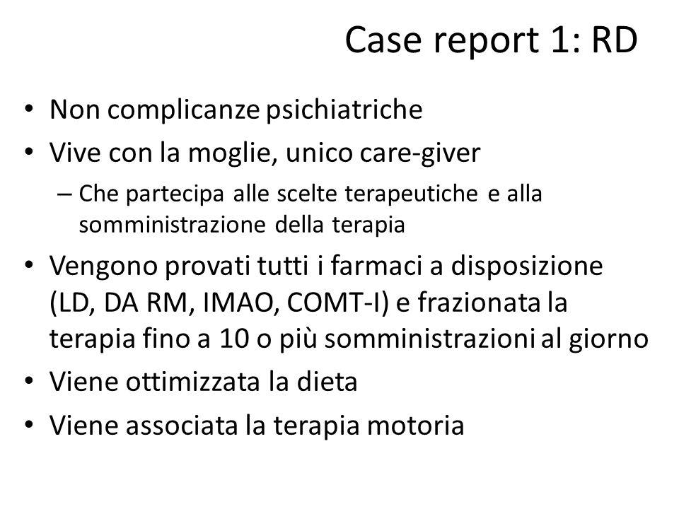 Case report 1: RD Non complicanze psichiatriche
