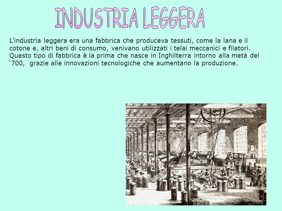 INDUSTRIA LEGGERA