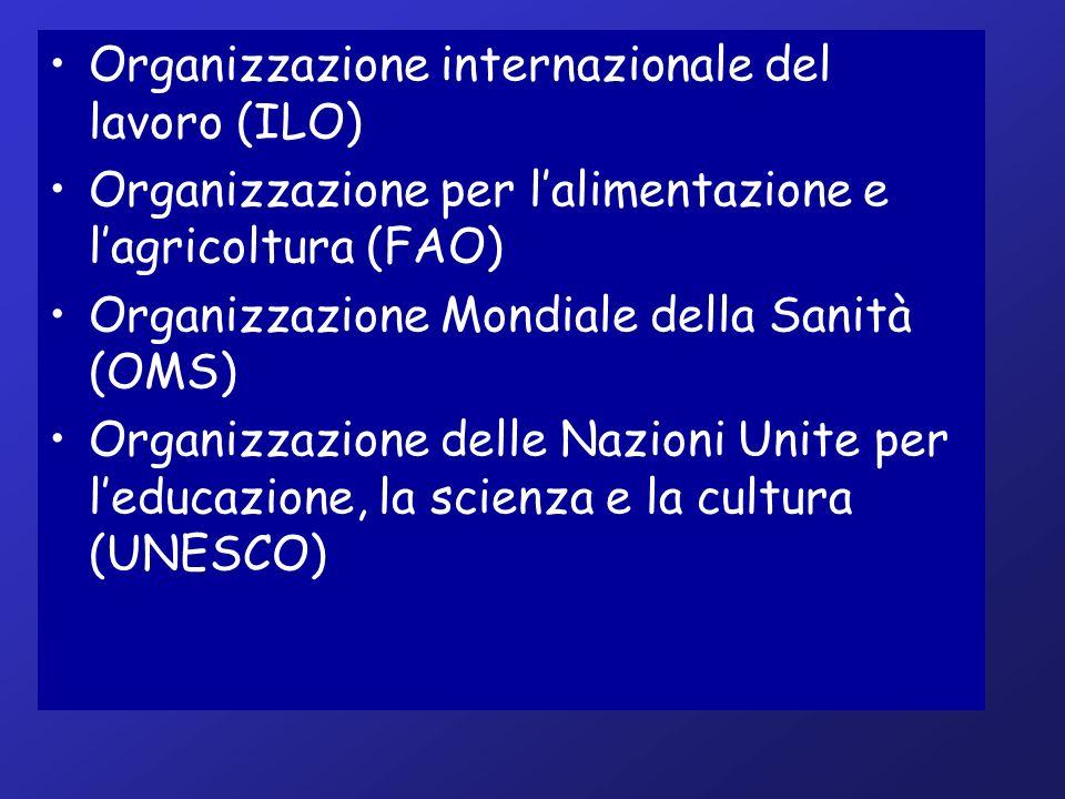 Organizzazione internazionale del lavoro (ILO)