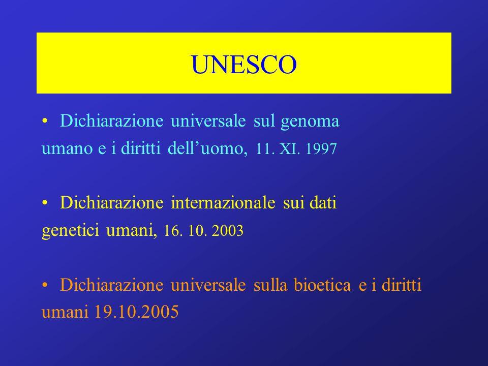 UNESCO Dichiarazione universale sul genoma