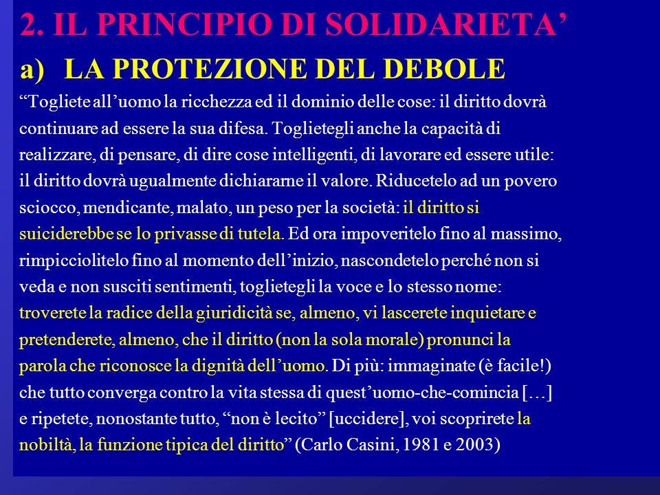 2. IL PRINCIPIO DI SOLIDARIETA'
