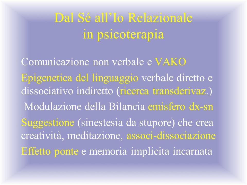 Dal Sé all'Io Relazionale in psicoterapia