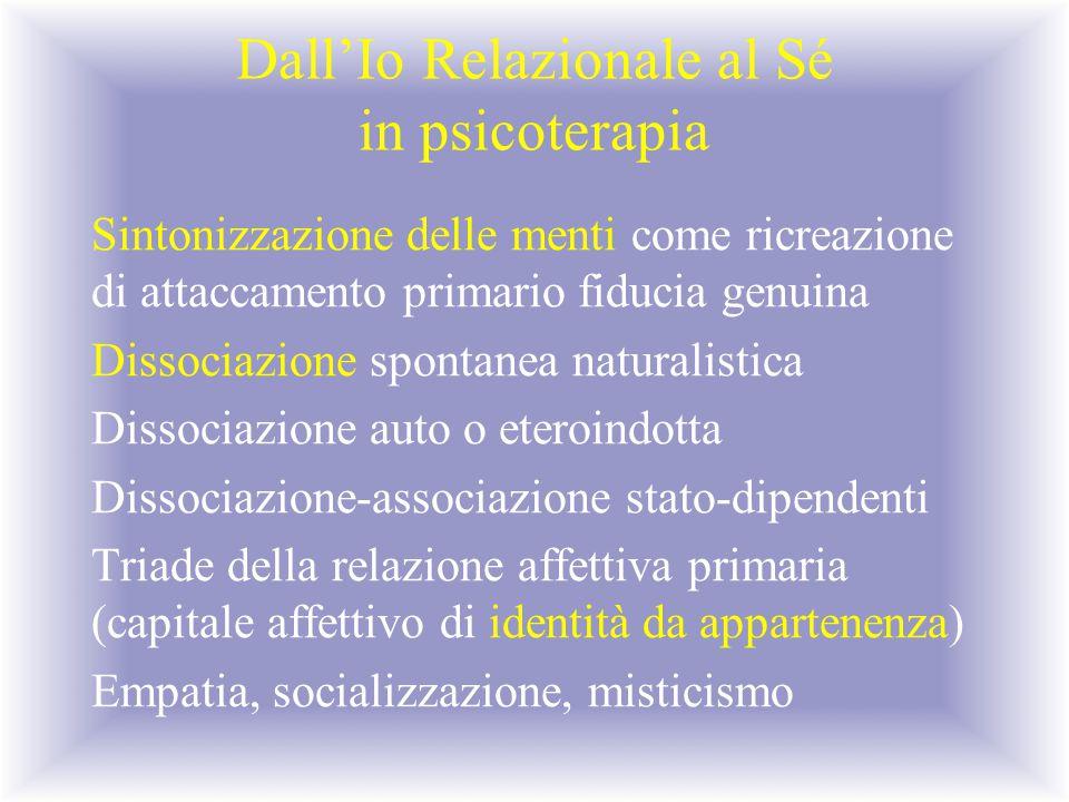 Dall'Io Relazionale al Sé in psicoterapia