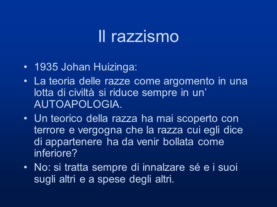 Il razzismo 1935 Johan Huizinga: