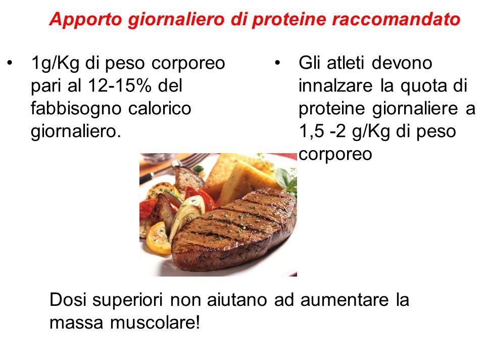 Apporto giornaliero di proteine raccomandato