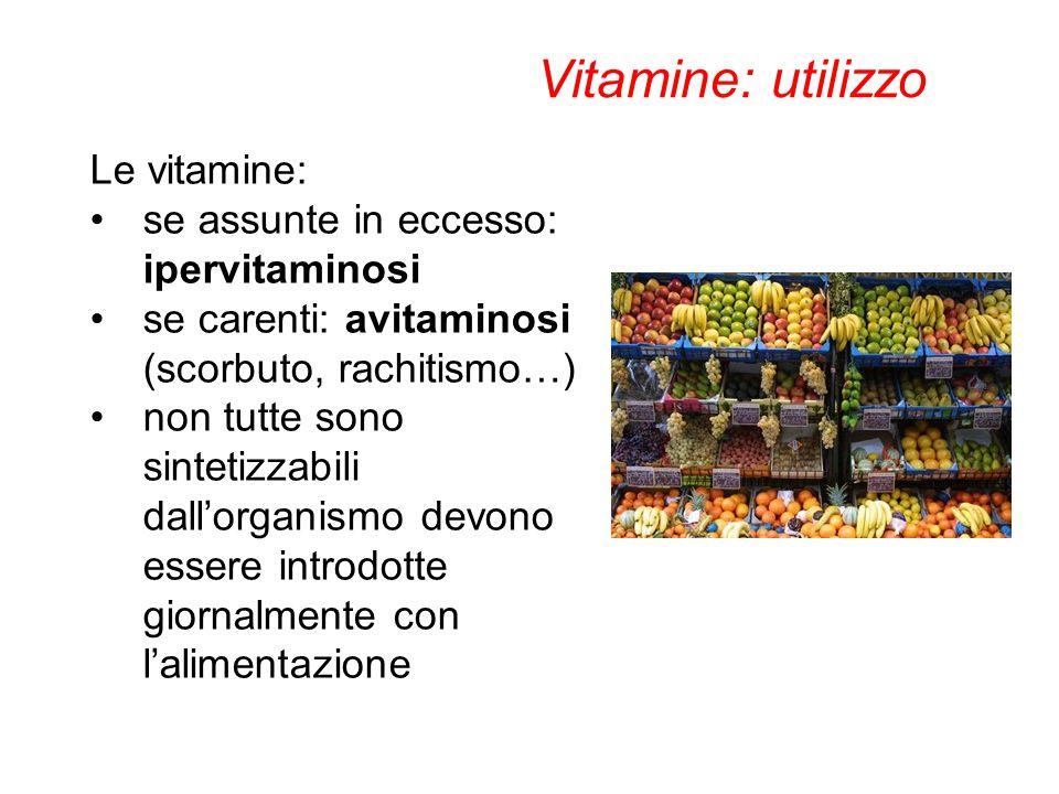 Vitamine: utilizzo Le vitamine: se assunte in eccesso: ipervitaminosi