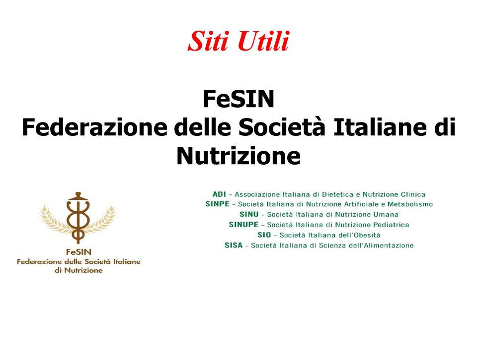 Federazione delle Società Italiane di Nutrizione