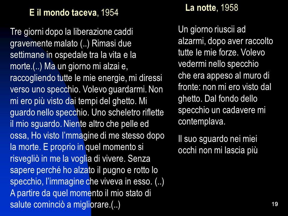 E il mondo taceva, 1954 La notte, 1958