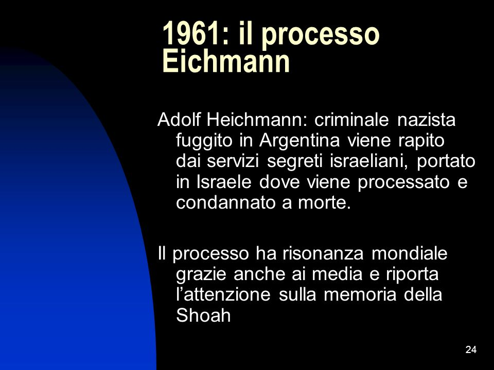 1961: il processo Eichmann