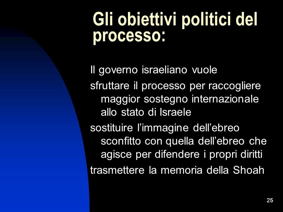 Gli obiettivi politici del processo: