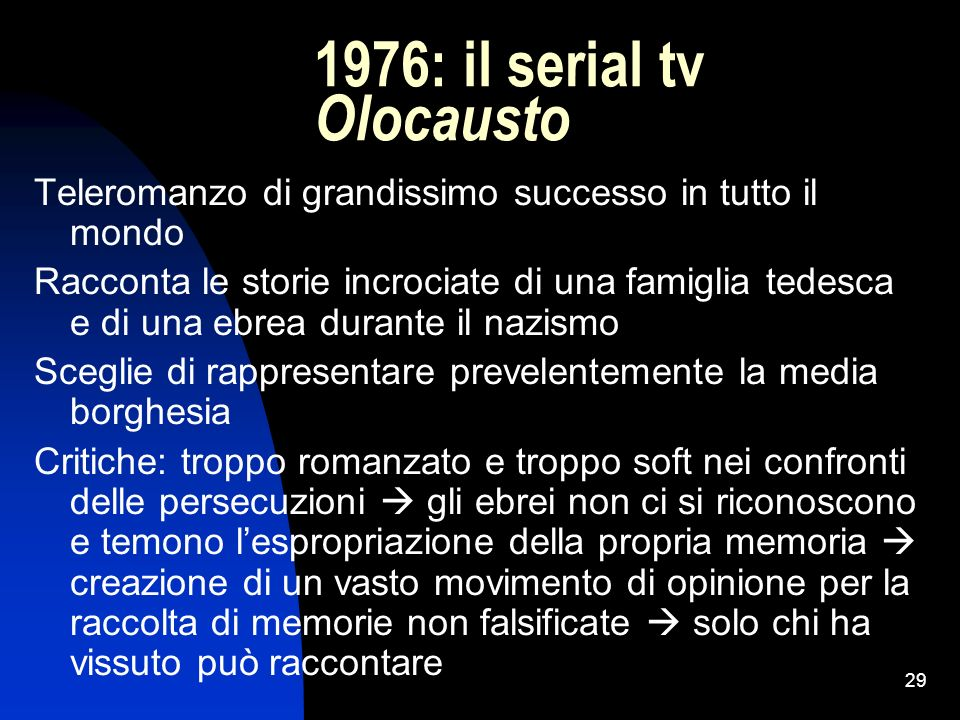 1976: il serial tv Olocausto