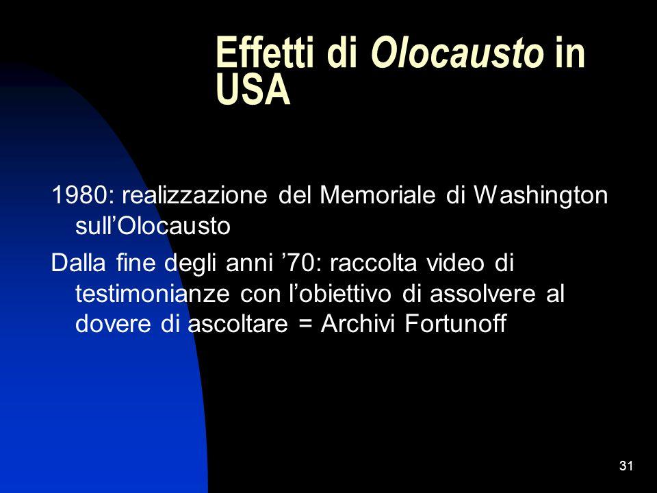 Effetti di Olocausto in USA