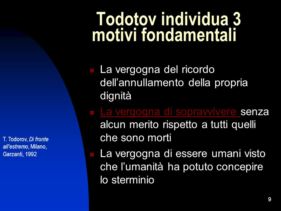 Todotov individua 3 motivi fondamentali