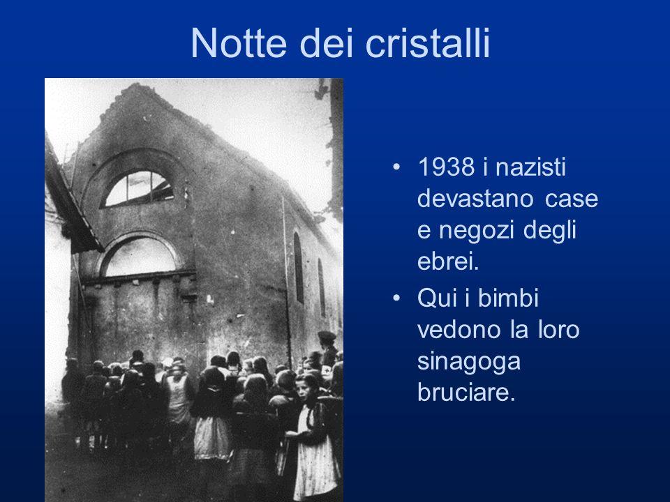 Notte dei cristalli 1938 i nazisti devastano case e negozi degli ebrei.