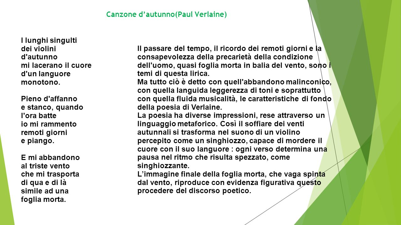 Canzone d'autunno(Paul Verlaine)