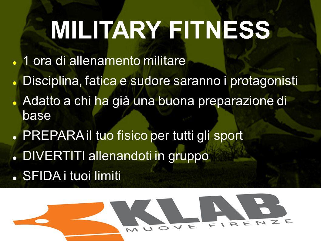MILITARY FITNESS 1 ora di allenamento militare