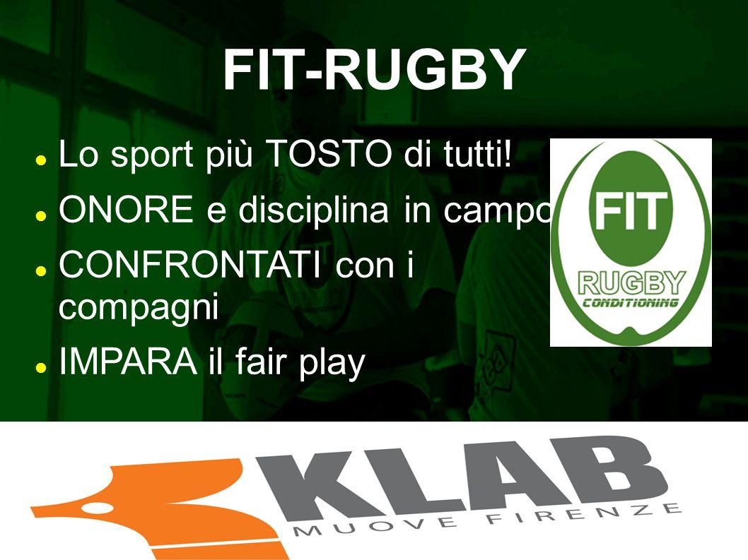 FIT-RUGBY Lo sport più TOSTO di tutti! ONORE e disciplina in campo