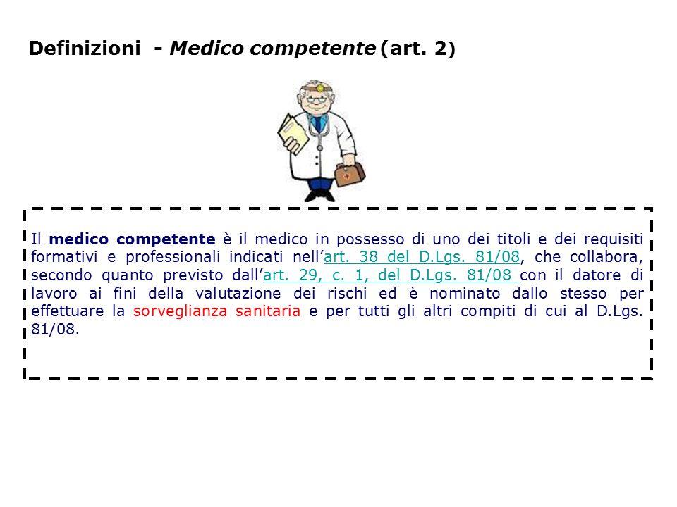 Definizioni - Medico competente (art. 2)