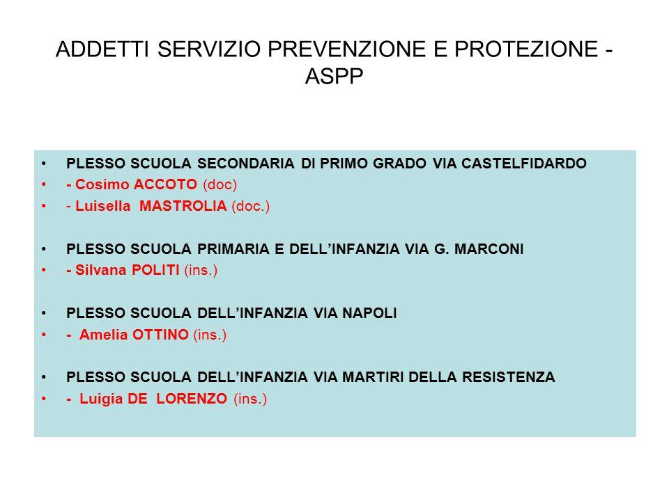 ADDETTI SERVIZIO PREVENZIONE E PROTEZIONE - ASPP