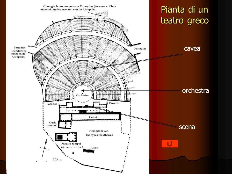 Pianta di un teatro greco