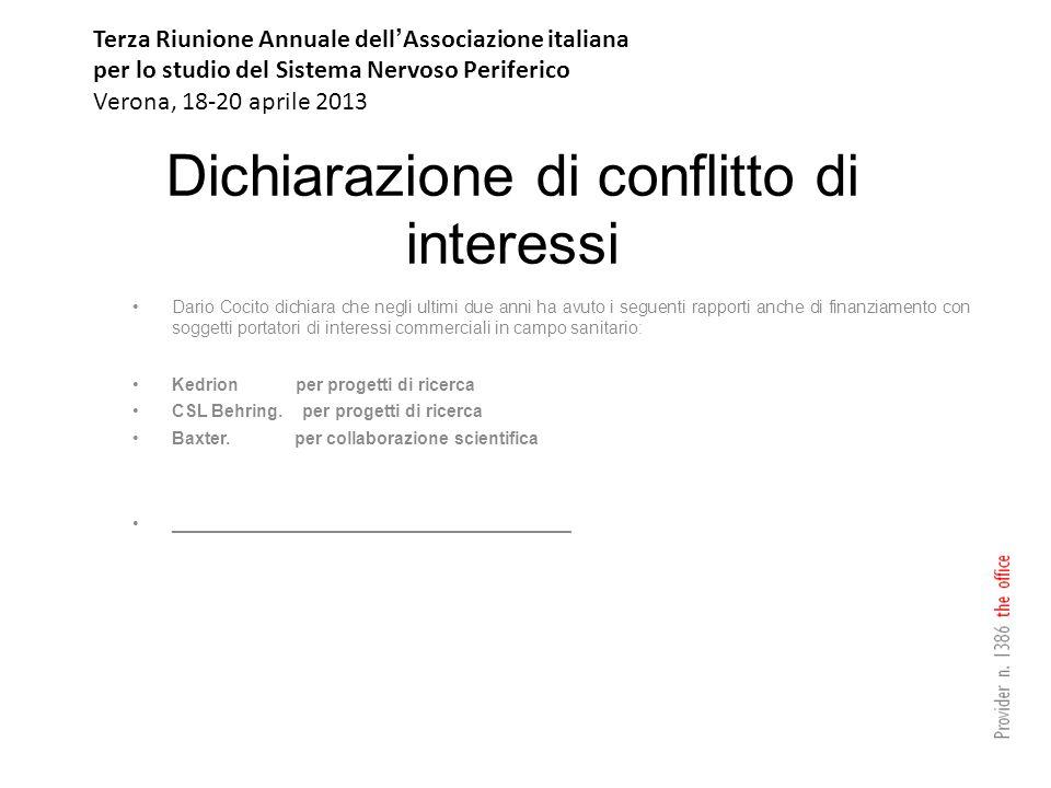 Dichiarazione di conflitto di interessi