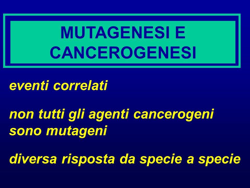 MUTAGENESI E CANCEROGENESI