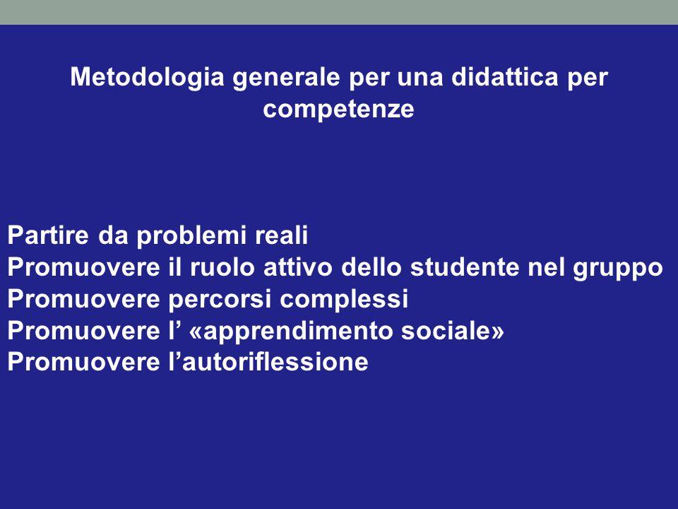 Metodologia generale per una didattica per competenze