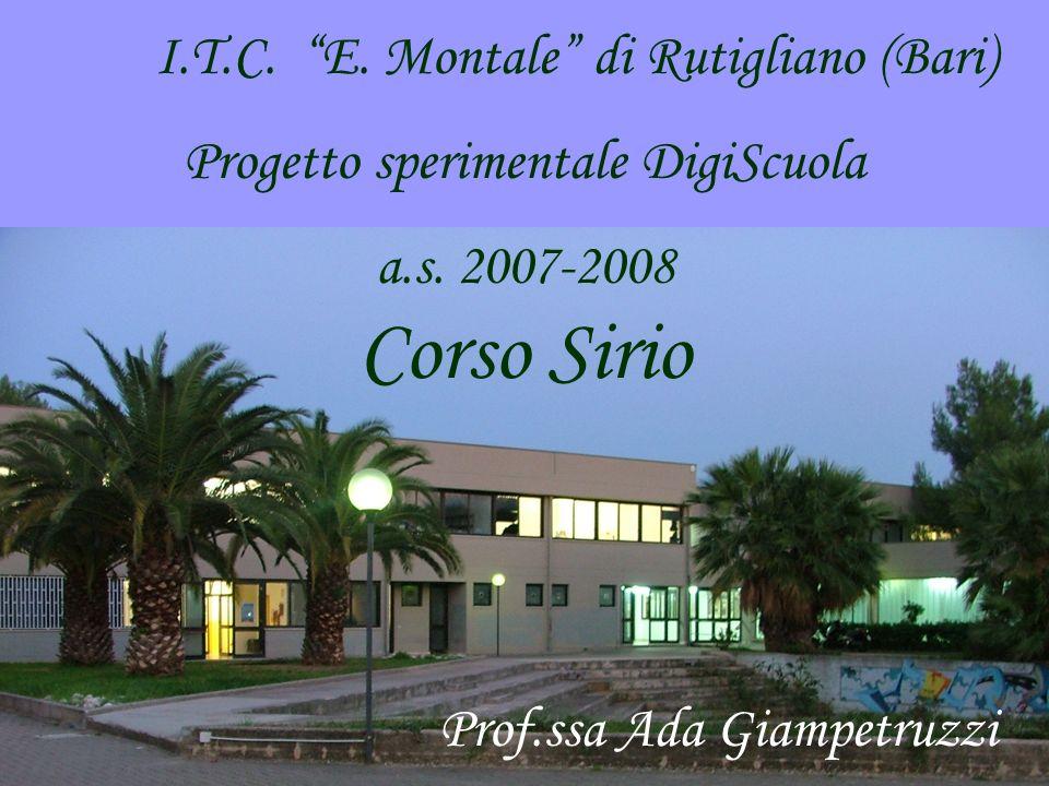 Corso Sirio I.T.C. E. Montale di Rutigliano (Bari)