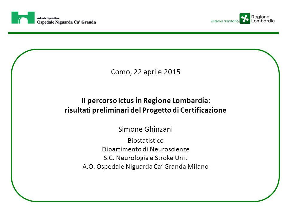 Il percorso Ictus in Regione Lombardia: