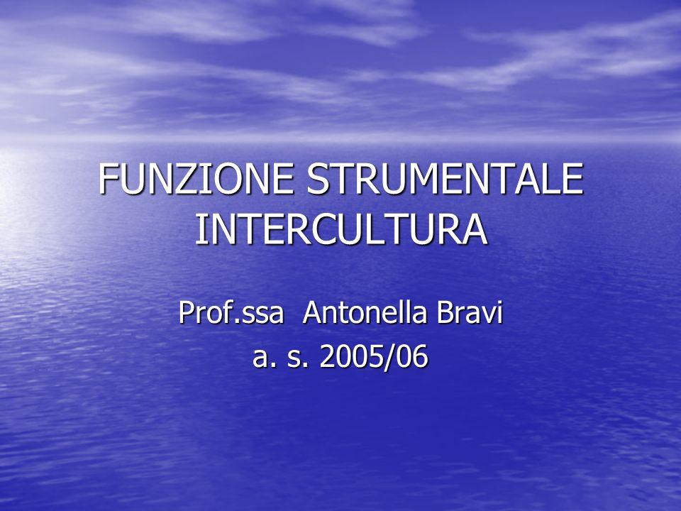 FUNZIONE STRUMENTALE INTERCULTURA