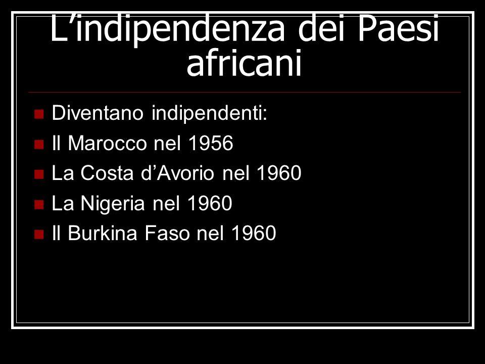L'indipendenza dei Paesi africani