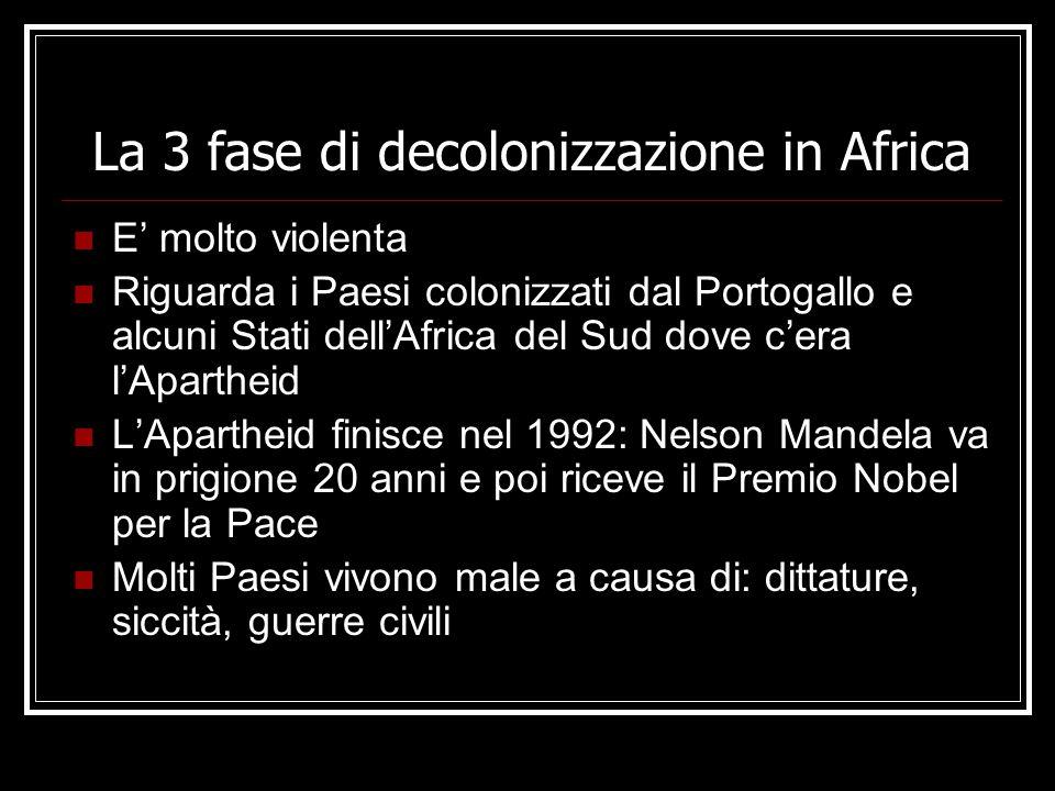 La 3 fase di decolonizzazione in Africa