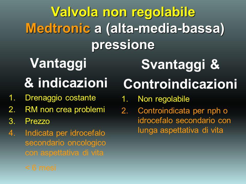Valvola non regolabile Medtronic a (alta-media-bassa) pressione