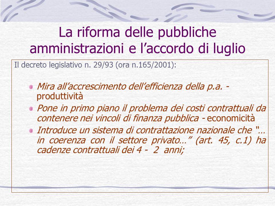 La riforma delle pubbliche amministrazioni e l'accordo di luglio