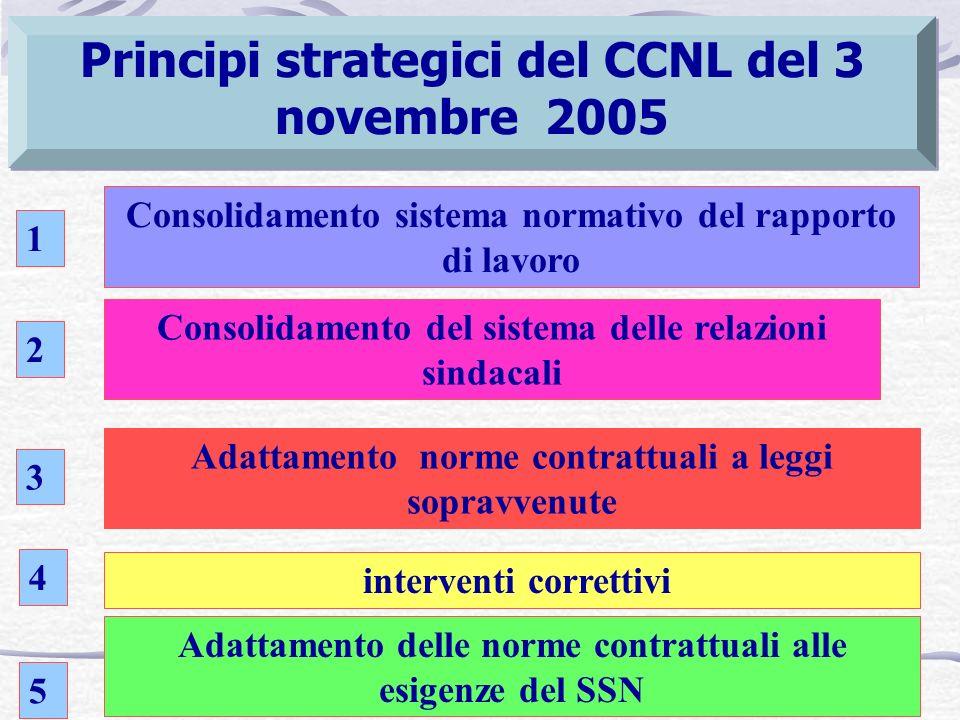 Principi strategici del CCNL del 3 novembre 2005