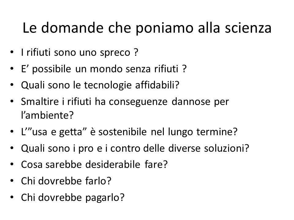 Le domande che poniamo alla scienza