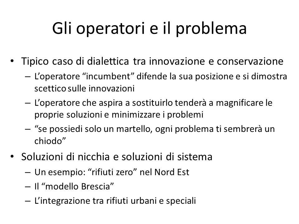 Gli operatori e il problema