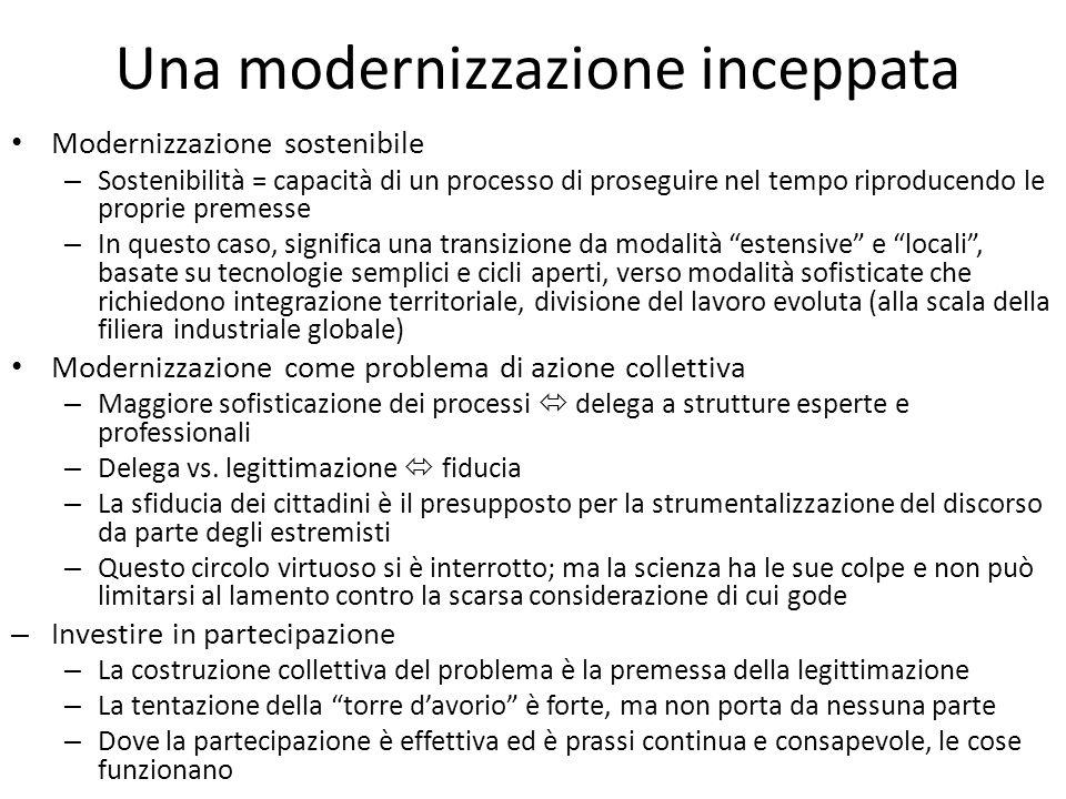 Una modernizzazione inceppata