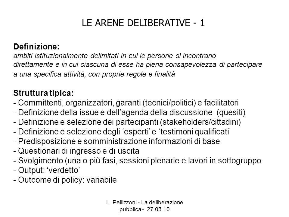 LE ARENE DELIBERATIVE - 1