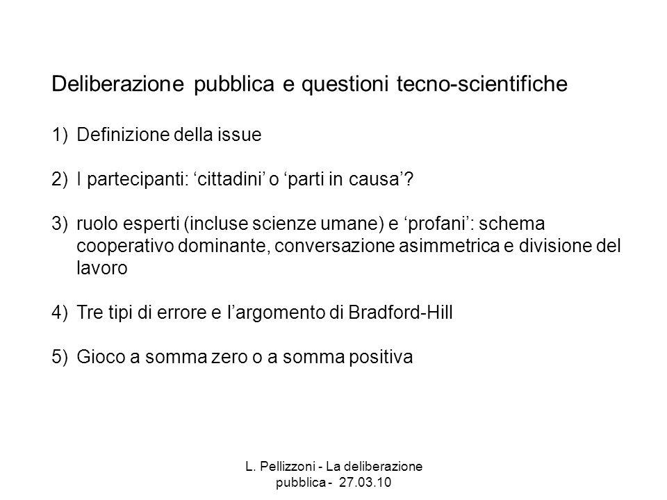 L. Pellizzoni - La deliberazione pubblica - 27.03.10