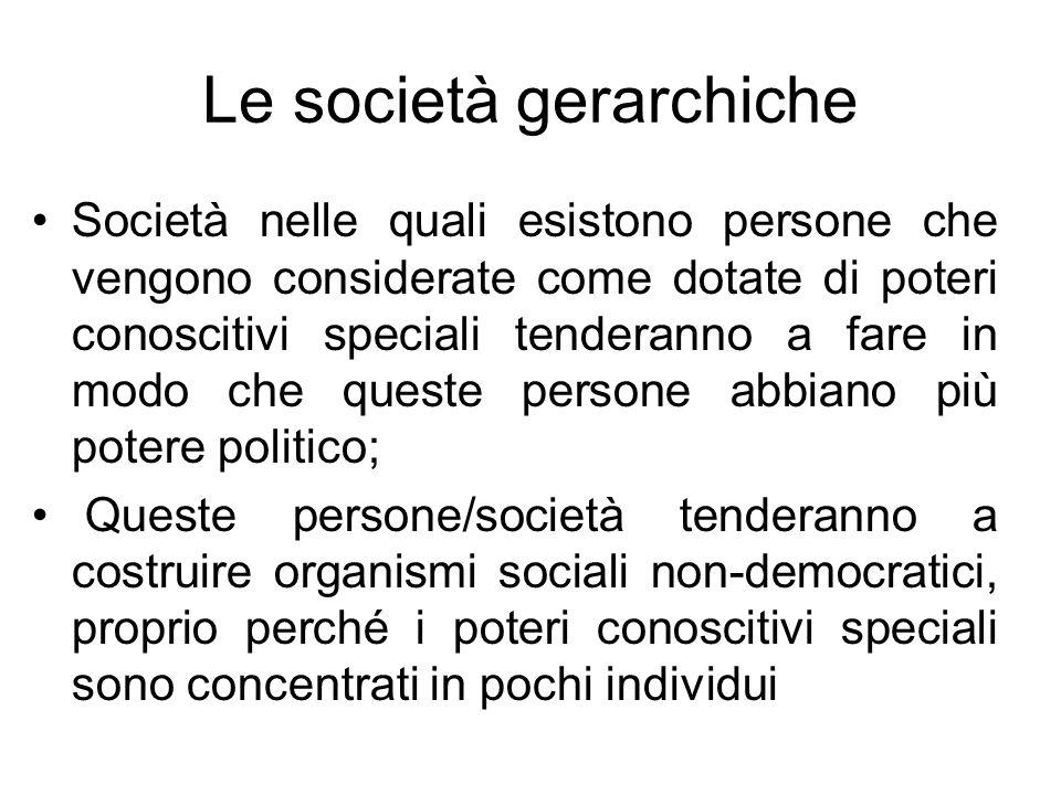 Le società gerarchiche