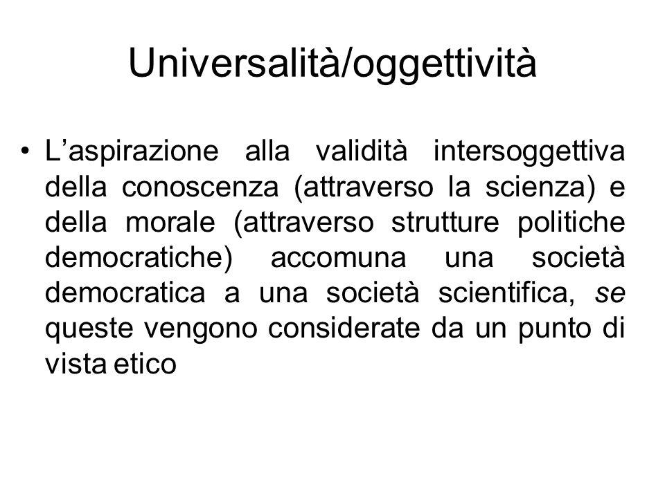 Universalità/oggettività