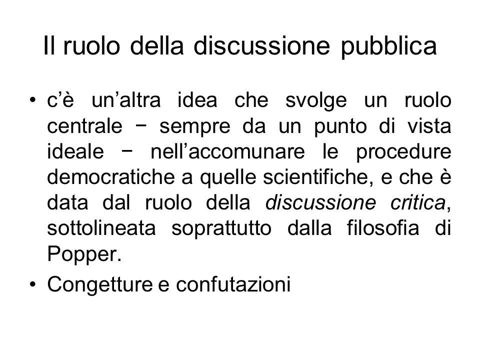 Il ruolo della discussione pubblica