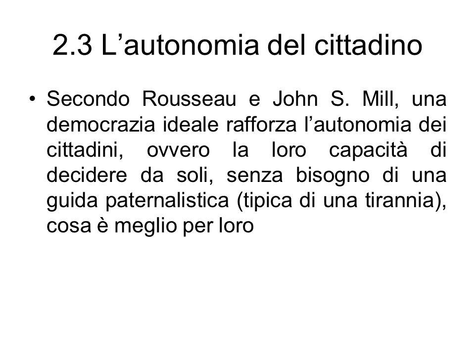 2.3 L'autonomia del cittadino