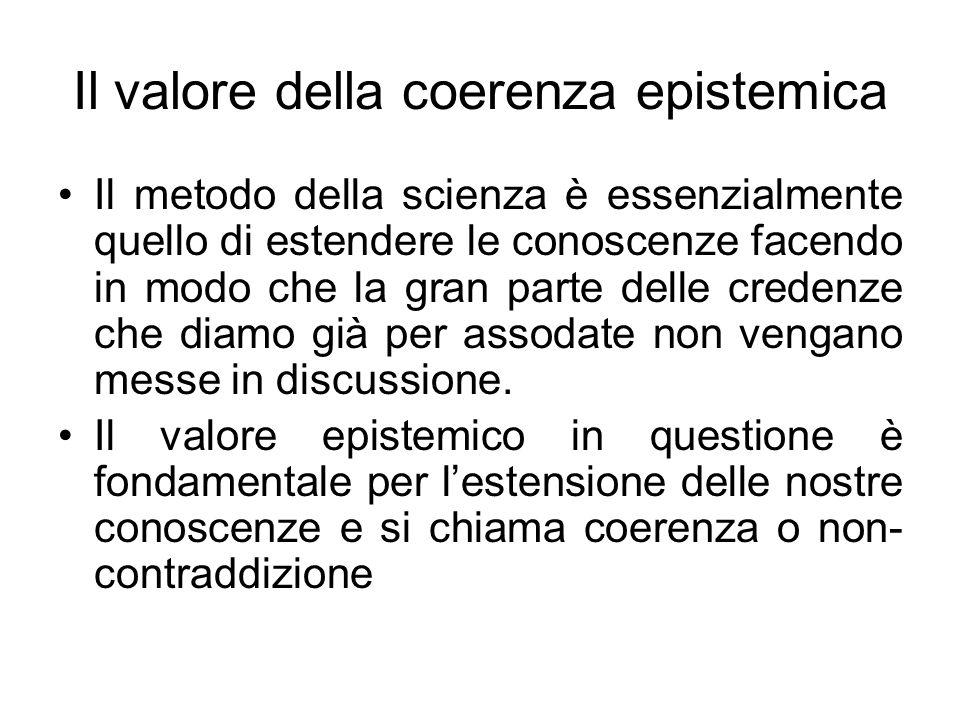 Il valore della coerenza epistemica