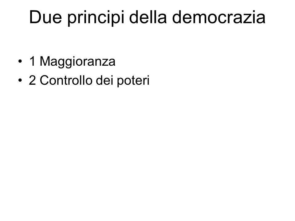 Due principi della democrazia