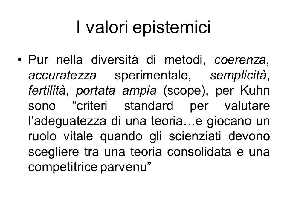 I valori epistemici