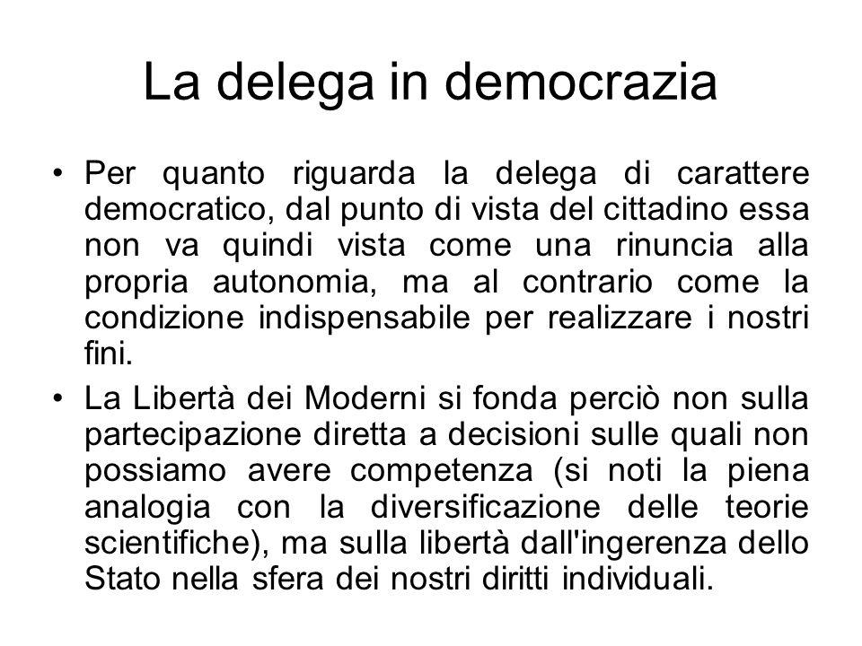 La delega in democrazia
