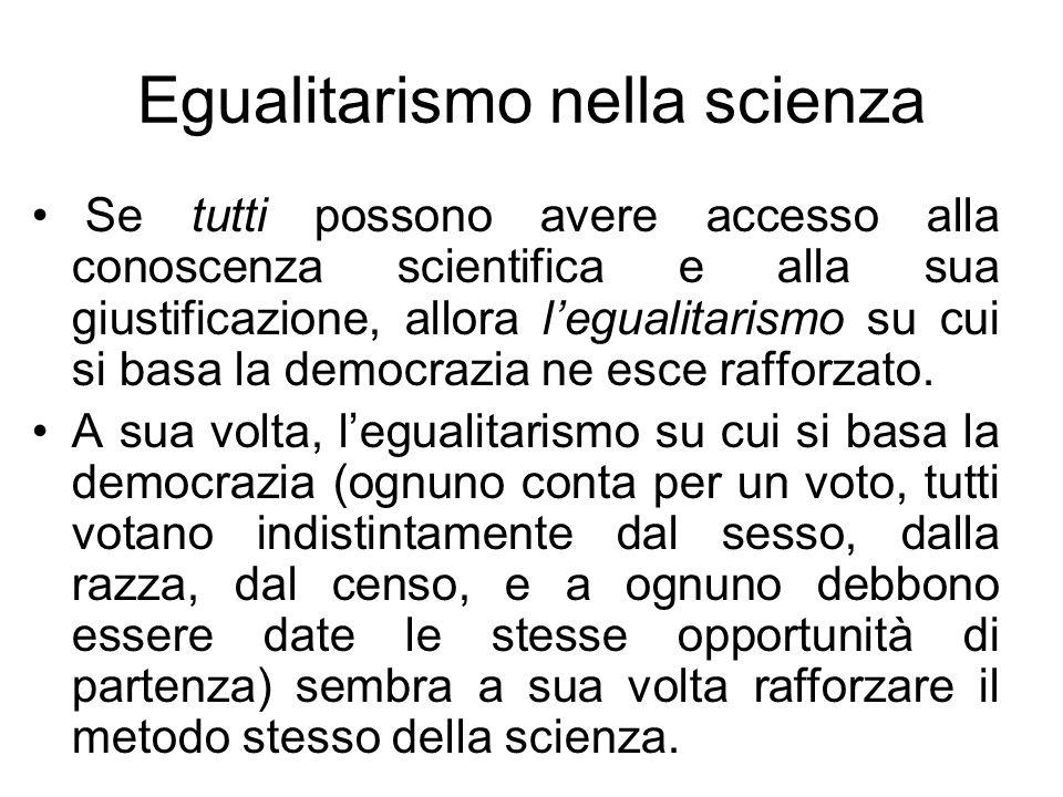 Egualitarismo nella scienza