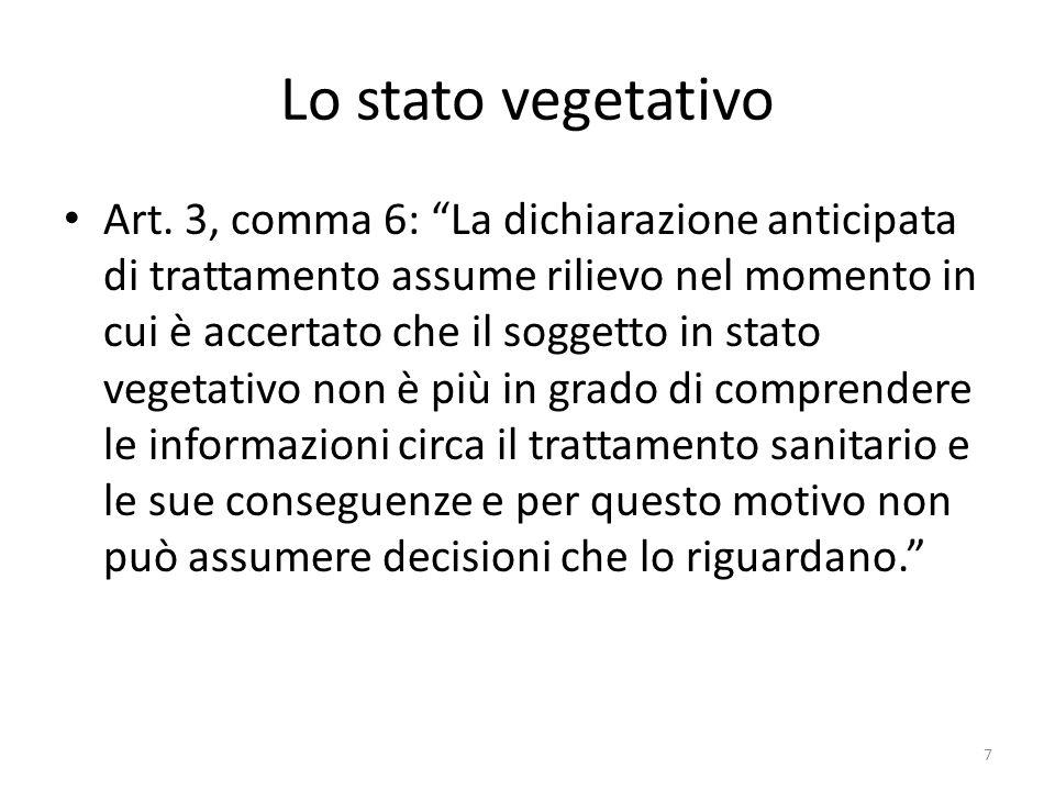 Lo stato vegetativo